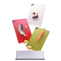 Color-coded cutting board set Different color for different food