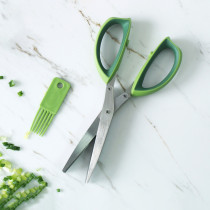 Stainless Steel Five Layer Scissors Vegetable Spice Kitchen Knife Multiple Blade