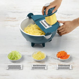 Magic Multifunctional Rotate Vegetable Cutter With Drain Basket Kitchen