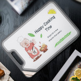 Multifunctional antibacterial double-sided stainless steel cutting board plastic mildew cutting board anti-skid sharpening knife