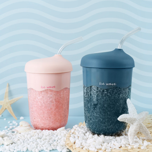 Christmas Ice waves bottle blender bottle u cup