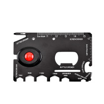 Outdoor Multi-function EDC tool card opener with LED Light