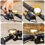 Bicycle Bell Classic Brass Bicycle Horn Cycling Accessories Fit 0.5-0.94inch Handlebar,Anti-Rust, Loud Sound ebike