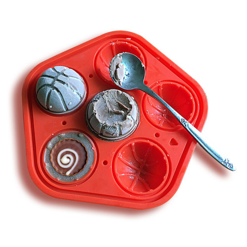New Design 6 Grids Basketball Ice Cube Eco-Friendly Cavity Silicone Tray Mini ice models Cubes Milk Mold Ice Maker Models Bar Tools