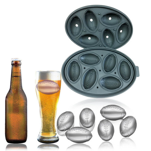 Premium Football Shape Rugby Silicone Ice Cube Mold & Candy Mold Food Grade Silicone BPA FREE | Chocolate, Candy, Ice Cube and More Football Shape