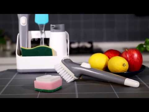 kitchen equipment and their uses Multifunction kitchen clean brush drainage rack