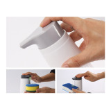 Plastic Hand Sanitizer Bottle Bathroom Kitchen Soap Dispenser Manual Press Bottle Washing Clean Liquid Storage Bottle