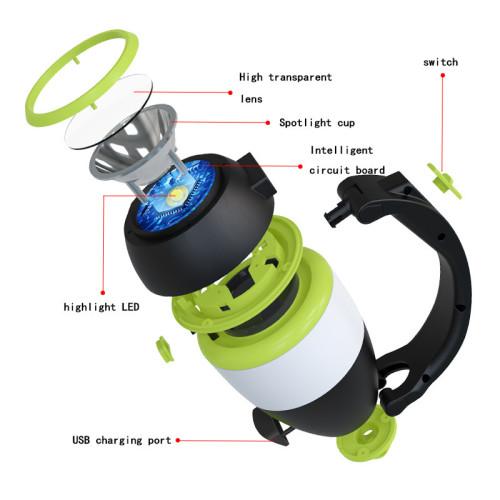 Multifunction light table lamp camping lights flashlight