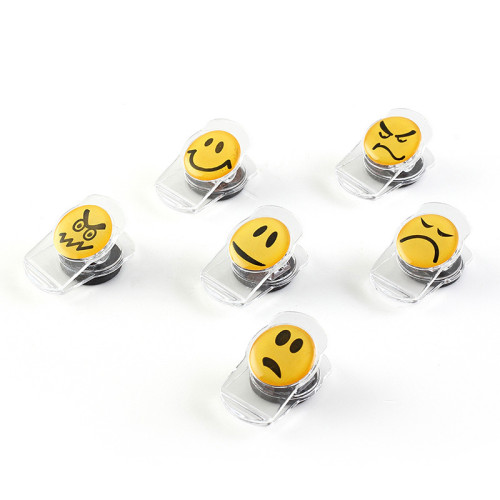 Cartoon emoji shelf expression clip 6pcs