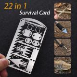 22 in 1 Survival Card Outdoor Multi-purpose