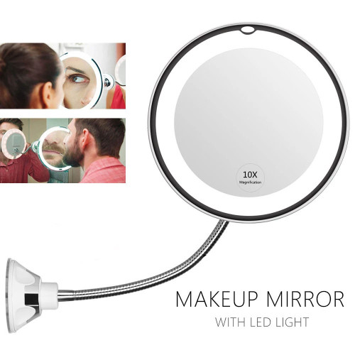 Makeup Mirror With LED Light 10X Magnifcation