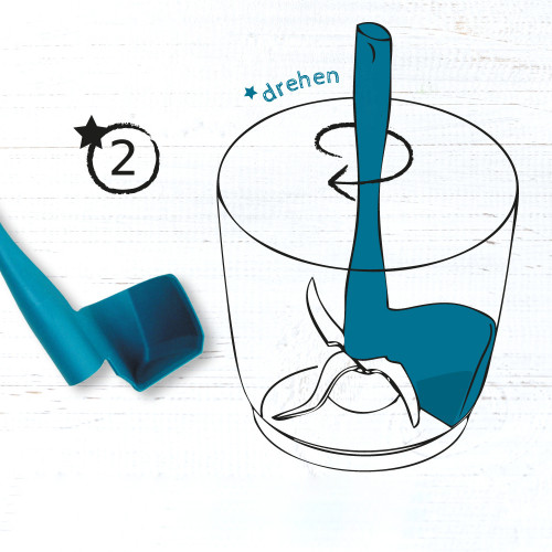 Rotating scraper spatula for Thermomix TM6/TM5/TM31 for removal, scooping and portioning