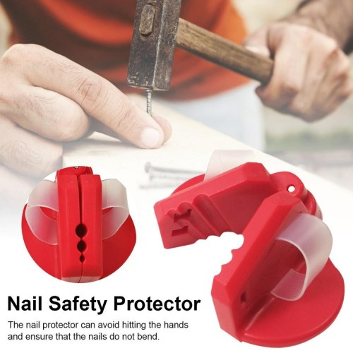 Magnetic Safety Nailer ABS Finger Nailer Protect Your Fingers for Hammering Nail