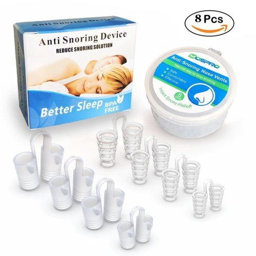 Anti Snoring Device Snore Stopper With 8 Nose Vents And Travel Case Kit BPA Free FDA SGS