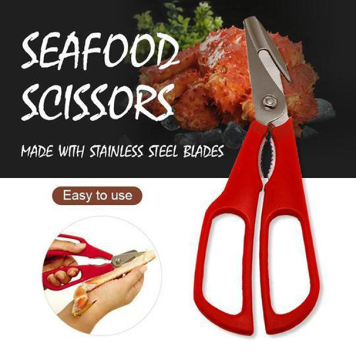 Stainless Steel Scissors Compact Durable Kitchen Scissors Lobster Fish Crabs Seafood Shears