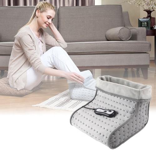 220V Super cosy fleece foot warmer with Massage adapter 6.0mA 7.2W 30*30*24cm 2 motors vibration Massage Foot Warmer