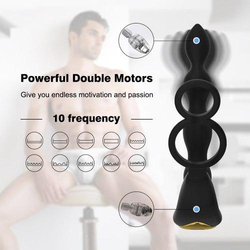Wireless Remote Anal Plug Double Motors Vibrator