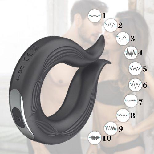 Erection Delay Ejaculation Silicone Penis-Ring Vibrator