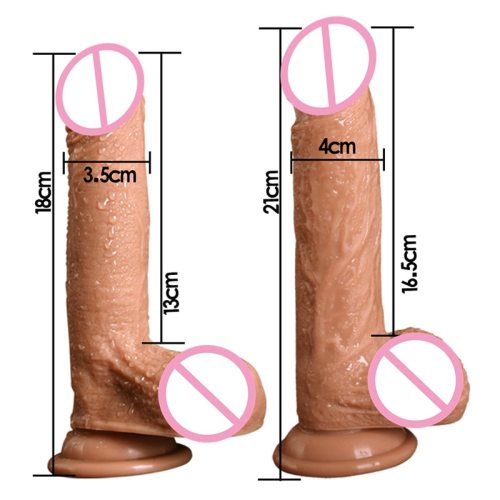 7/8 Inch Huge Realistic Silicone Dildo with Suction Cup