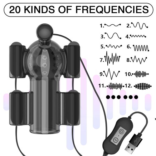 20 Speed Penis Training Ring Glans Vibrator