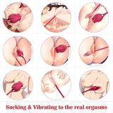 VIBRO© 3 in 1 Sucking Vibrating and Licking Vibrator Rose Toys - 002