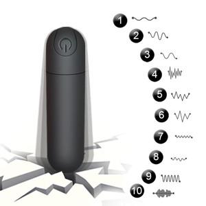 A single button controls 10 modes of vibration