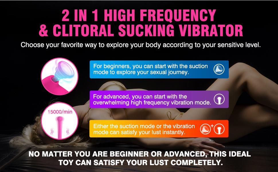 VIBRO© 2 in 1 High Frequency Clitoral Sucking Vibrator