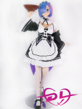 145cm D-cup#7ヘッド Aotume Doll メイドアニメドール 8月から販売終了 追加眼球*1対とウィッグ*1セット贈る