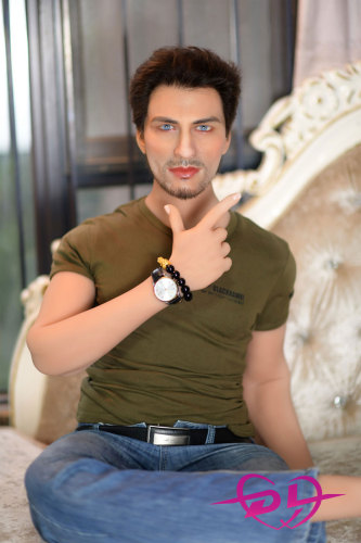 170cm映男 男性シリコン頭部+tpeボディ6YEDOLL(植毛、眉毛移植、あごひげ移植)