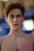 173cm男性シリコン頭部+tpeボディ6YEDOLL(植毛、眉毛移植、あごひげ移植、乳房植毛)