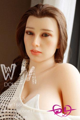 【eiko】168cm F-cupシリコン頭部+tpeボディセックスドールWM Doll#1