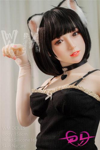 愛美158cm D-cup シリコン頭+TPE 微笑ましいリアルセックスドールWMDoll#16