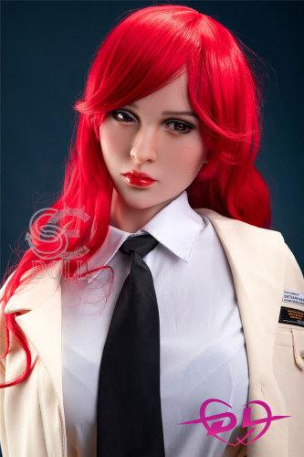 Brittany 166cm B-cup SEDoll#045 赤髪制服熟リアルドール