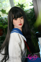 『海棠』 163cm A-cup Bezlya彼の良 シリコン+TPE 黒髪ロングの姫カットラブドール