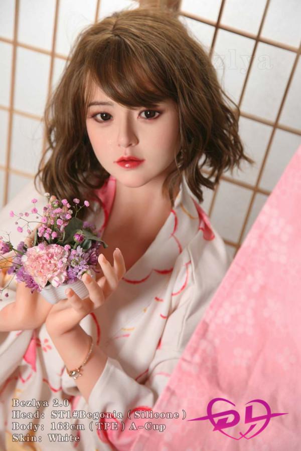 『海棠』 163cm A-cup Bezlya彼の良 シリコン+TPE 和服キレカワ系美少女ラブドール