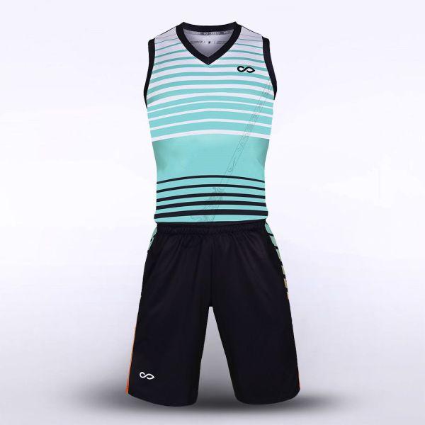 sublimated basketball jersey set 12724