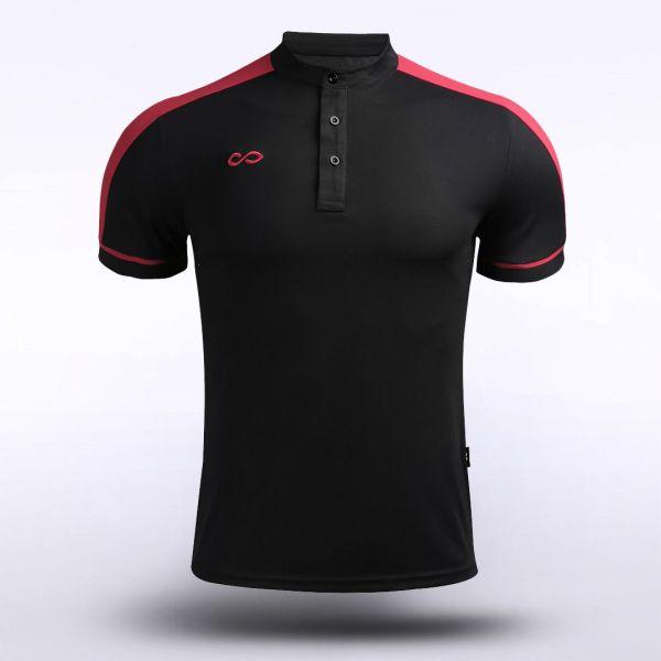 Stand Collar Polo Shirt 13786
