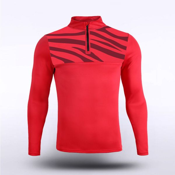 sublimated knitted 1/4 zip 15972