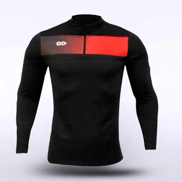 sublimated knitted 1/4 zip 15908