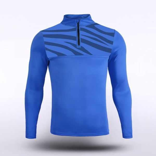 sublimated knitted 1/4 zip 15987