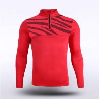 sublimated knitted 1/4 zip 159721