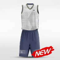sublimated basketball jersey set 14679
