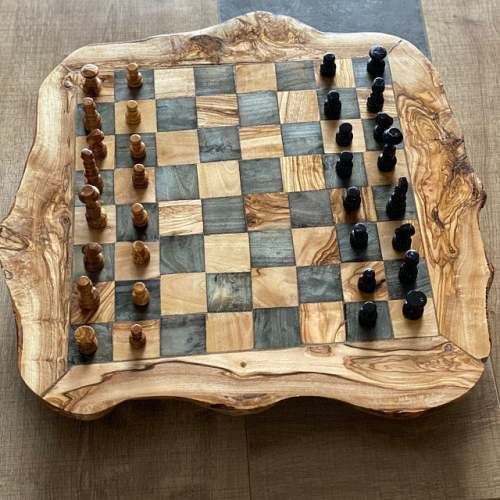 """girlfriend gift daddy gift,US Olive wood chess set board 11.8/"""" Xmas gift"""