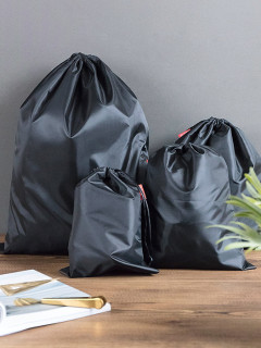 Drawstring Black Quilt Clothes Large Capacity Storage Bag