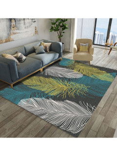 Chic Feather Pattern Rectangle Affordable Floor Mat
