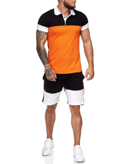 Summer Contrast Color Short Sleeve Activewear Sale