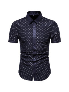 Fashion Dots Button Up Shirts For Men
