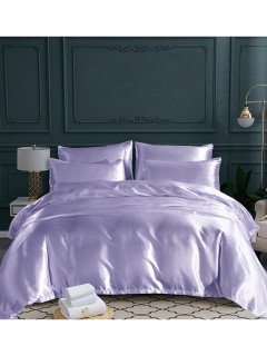 Glossy Satiny Solid Home Bedding Sets