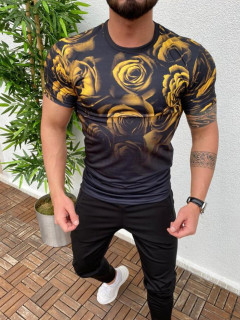 Stylish 3D Gradient Flower Printed t Shirt