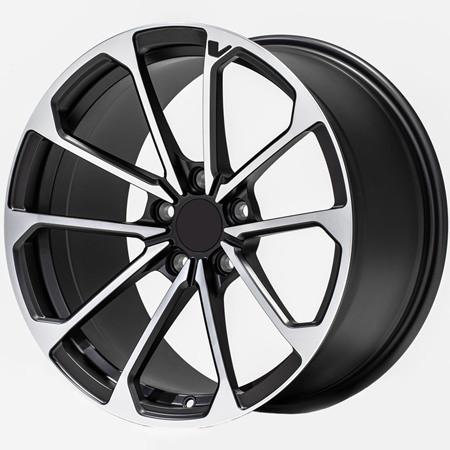 Cadillac ATS 18 inch 8J forged wheels alloy 6061 gun metal machine face and bright black